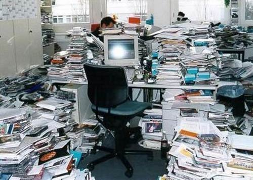 Paper office the recycler - Very small space of time image ...
