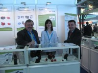 Totalpost's David Hymers and colleagues at the company's booth