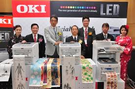 OKI representatives at the product launch.