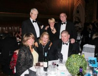 Kleen Strike's Laura Heywood, Justine Barker, Alistair Barker, Don Barker, Diane and Alan Longstaff at the Rochdale Business Awards