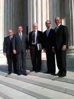 Attorney Joseph Smith (second from left) with Static Control's Dale Lewis, William London, Bill Swartz and Michael Swartz