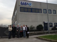 (left to right) Fabio Caliman, CEO of DAMA; John Marshall, Principal Technical Advisor to NAND; Christian Amadeus, Business Development Manager at DAMA; Massimo Caliman and Danilo Sasso, Owners of DAMA