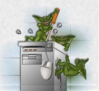 An artist's depiction of what's currently happening to our newsletter server...