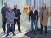 ETIRA representatives l. to r.: Andreas Schelle  (Interseroh),  Hans- Gerhard Hermans (Return Recycling), Florian Werthmann  (CR-Solutions), Marc  Berger ( Pelican Hardcopy), Vincent van Dijk (ETIRA)