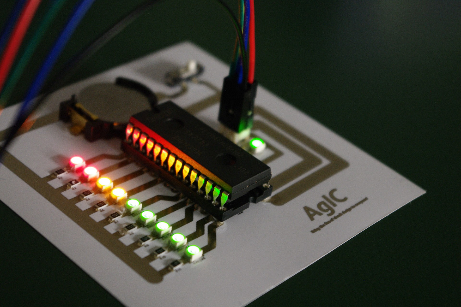 AgIC's technology uses silver nanoparticles to create homemade circuit  boards. printedcircuit