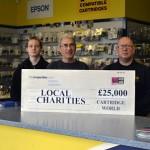 Cartridge World UK stores raise £25,000 for charities