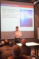 Lexmark's Andrew Gardner speaking at the seminar in Poland