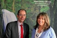 Councillor Colin Lambert and Kleen Strike's Laura Heywood (Credit: Rochdale Online)
