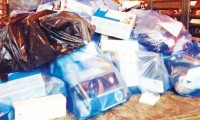 Some of the cartridges seized this weekend in Riyadh (Credit: Arab News/SPA)