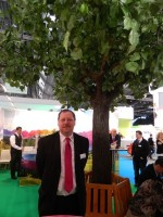 Dirk Hünselar, Sales Manager, OCP at the company's Remanexpo 2014 booth.