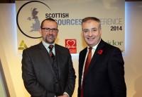 Iain Gulland, Director, Zero Waste Scotland; with Environment Secretary Richard Lochhead