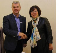 Richard Betts with Mary OuYang, CEO of Mito