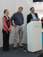 (Left to right) HP's Bernadine Maher, Lexmark's Andrew Gardner and Static Control's Jason Doran.