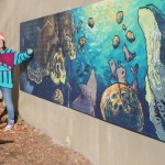 Artist creates mural out of laser prints