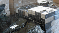 An image from HP Inc of some of the counterfeit toner cartridges seized