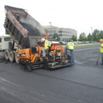 US construction company mixes toner with asphalt