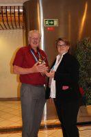 Stefanie Unland presents Colin Davison with his award at Focus on Europe