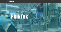 A screenshot of PRINTek's new website
