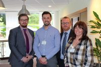 The new UKCRA committee: Tim Parsons (Promax); Mel Gauci (I-Tel Supplies); Lee Fowler (wta); Laura Heywood (Kleen-Strike)