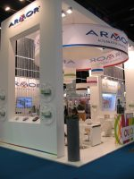 Armor's booth at the show in 2015
