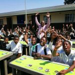 Recycled desks given to African schools