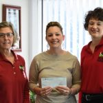 Laser Pros present cheque to RASF