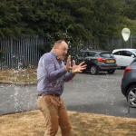 Print-Rite managers receive a soaking