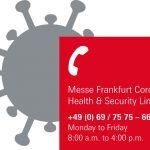 Messe Frankfurt first post corona show