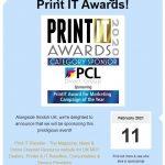 PCL sponsor Print IT awards