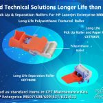 CET introduces new paper pickup and separation rollers