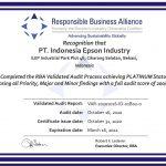 Epson factory achieves RBA platinum status