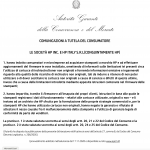 HP Italy posts notice on their website