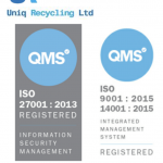 Uniq Recycling receives ISO certifications