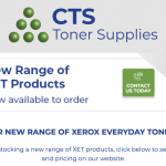 CTS Toner Supplies expands its XET range