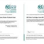 HP cartridges are now ISO/IEC 20243 certified